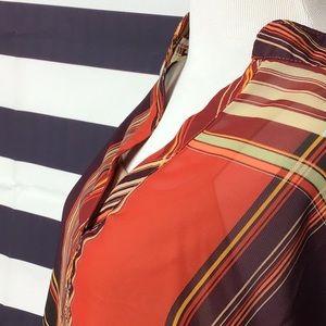 Stunning Rust Plaid Ellen Weaver 2 piece tunic